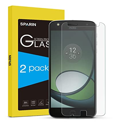 sparin 2 pack moto z play screen protector tempered glass screen protector for amazoncom tempered glass
