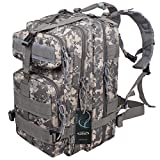 G4Free® 40L Sport Outdoor Military Rucksacks Tactical Molle Backpack Camping Hiking Trekking Bag Custom Design By G4Garden (ACU Camouflage, 40L)