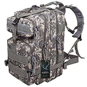 G4Free Sport Outdoor Military Rucksacks Tactical Molle Backpack Camping Hiking Trekking Bag Custom Design 40L (ACU Camouflage)