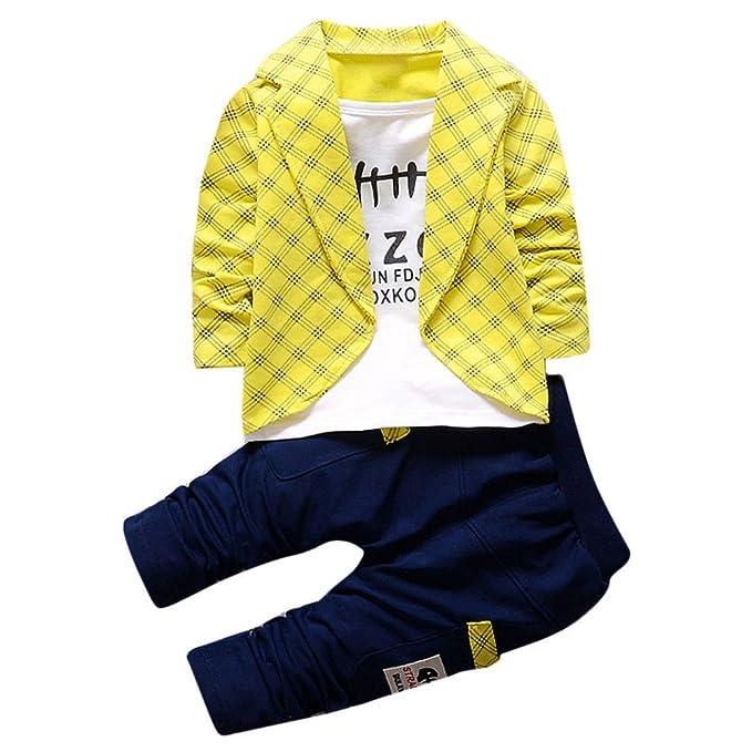 0f3f63121876 Amazon.com: JIANLANPTT Kids Baby Boys Casual 2 Pcs Pant Clothes Set Formal Party  Outfits: Clothing
