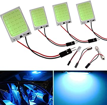 Ice Blue LED Panel Lights Car Interior Dome Truck Courtesy Lamp Replace 12V