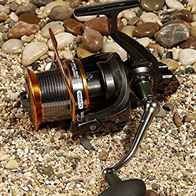 Zoostliss 13BB New 9000 All Metal Line Cup Big Long Shot Round Fishing Reel Fishing Boats Sea Anchor Rod Reels