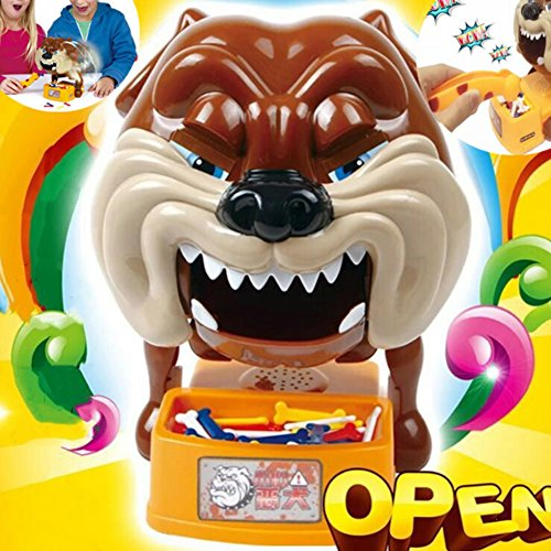 Faironly Novelty Prank Party Toys Beware of Barking Dog Steal Bones Electric Toy for Boys and Girls