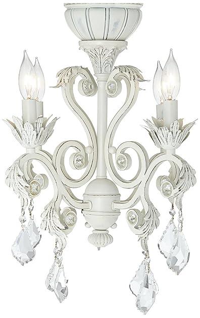 4-Light Rubbed White Chandelier Ceiling Fan Light Kit - - Amazon.com