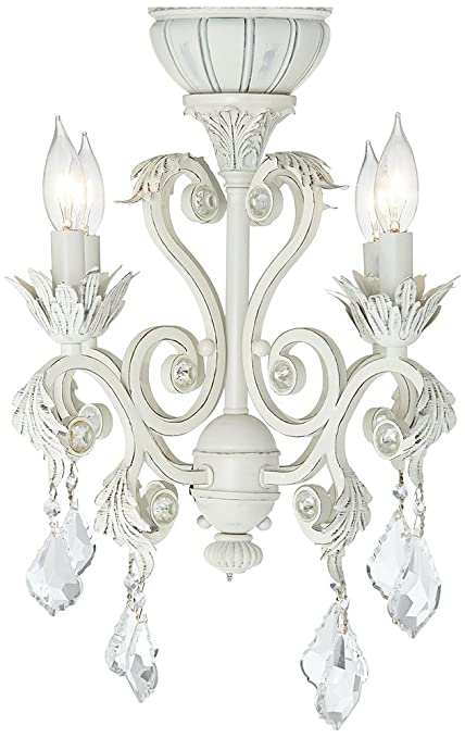 4 light rubbed white chandelier ceiling fan light kit amazon 4 light rubbed white chandelier ceiling fan light kit aloadofball Choice Image