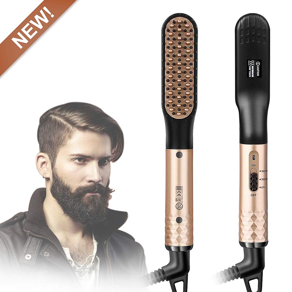 STYLEAGAL Beard Straightener for men, Beard Straightener Brush Comb Style Multifunctional Comb for Beard Grooming And Hair Styling Fast Shaping by styleagal