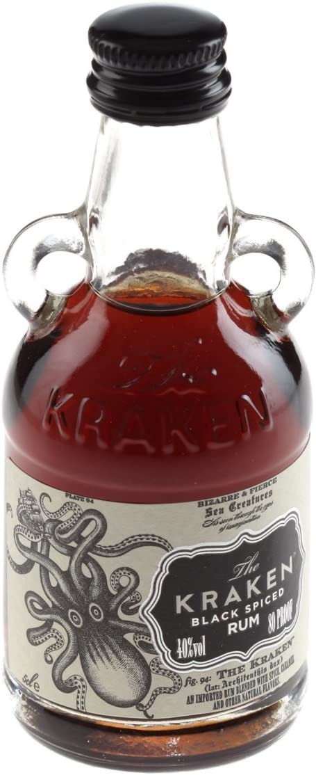 The Kraken Black Spiced Rum 5cl Miniature - 15 Pack: Amazon ...
