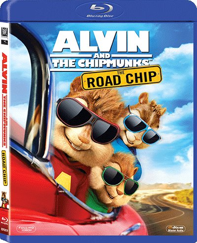 Alvin And The Chipmunks: The Road Chip (Region A Blu-Ray) (Hong Kong Version) English Language, Cantonese Dubbed ()