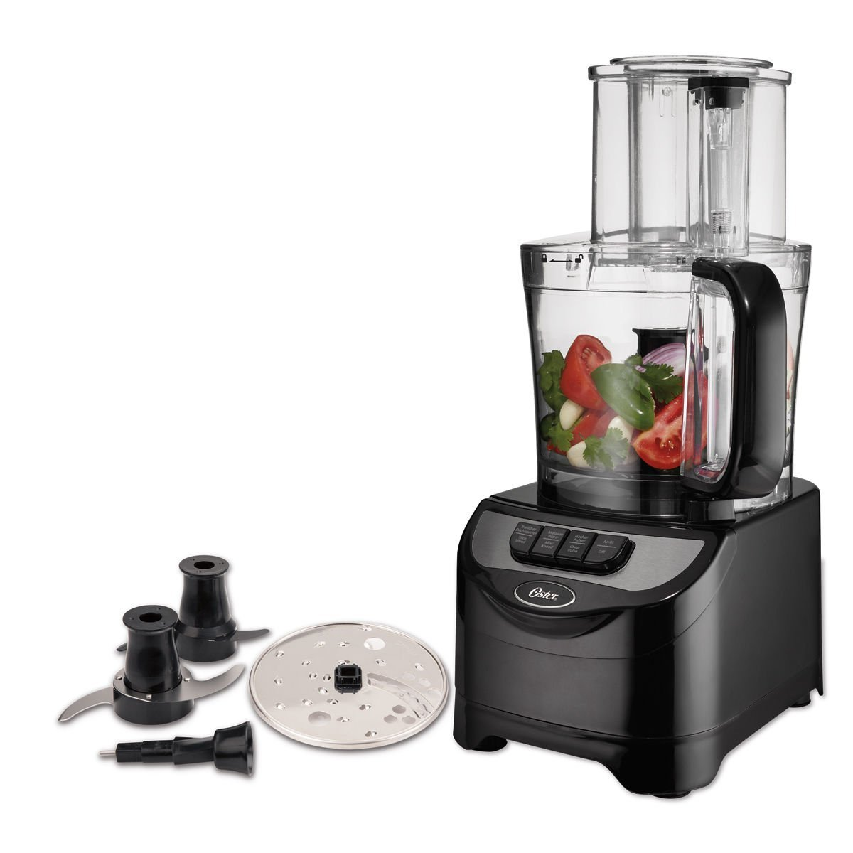 Oster 10-Cup Food Processor with Dough Blade, Black FPSTFP1355-033