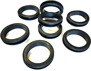 Fit 2-3//4 Panel Hole 2-1//2 ID Lot of 10 Rubber Grommets 1//4 Groove Width