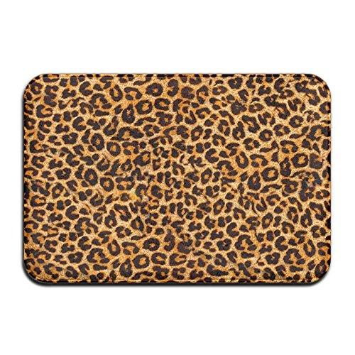 Leopard Bath Rugs - Leopard Print Memory Foam Door Mat Bathroom Liveby Care Non-slip Bath Doormat Shower Toilet Mat Front Door Ground Rugs 23.6