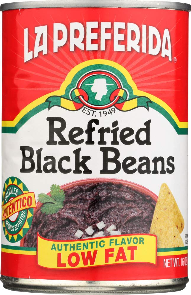 Amazon.com: La Preferida (NOT A CASE) Refried Black Beans Authentic Flavor 99% Fat Free: Home & Kitchen