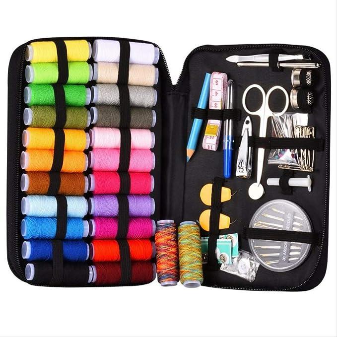 Kit de costura Bolsa De Accesorios De Costura Con 94 Accesorios De Costura, 24 Carretes - 24 Colores, Kit De Costura Para Principiantes, Viajero, Emergencia: Amazon.es: Hogar