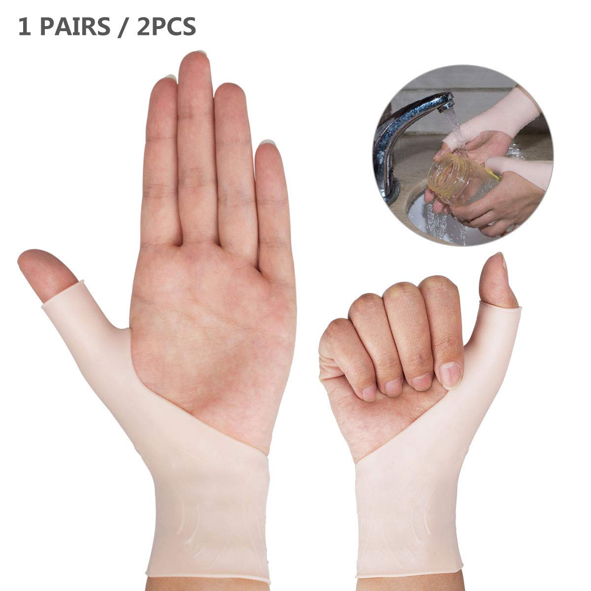 Wrist Support Braces - Gel Wrist Brace for Left and Right Hand | Proven to Relieve Wrist & Thumb Pain from Tenosynovitis, Arthritis, Rheumatism, Carpal Tunnel & More (Model 1)