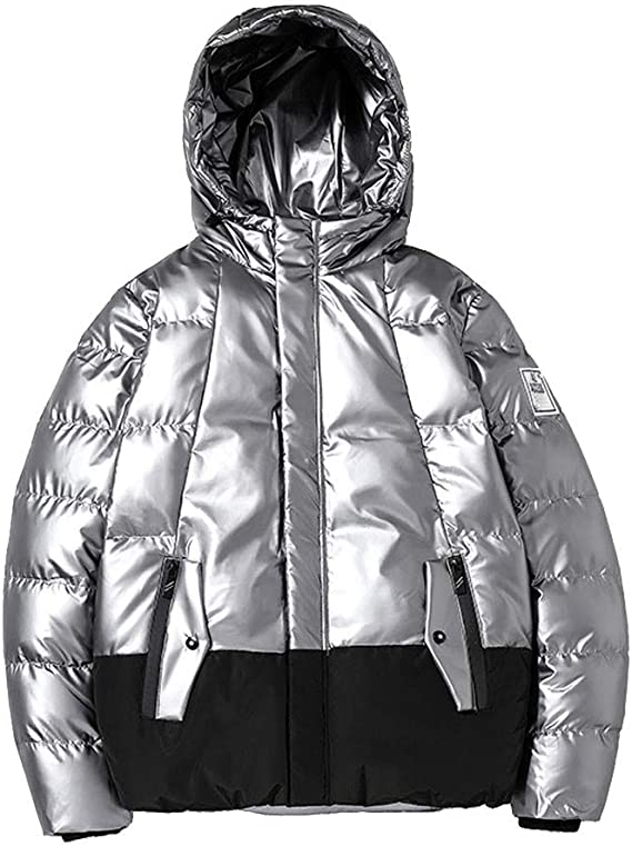 Bsjmlxg Mens Softshell Jacket Flight Bomber Diamond Quilted Varsity Side Zipper Winter Warm Cotton Padded Coats Outwear