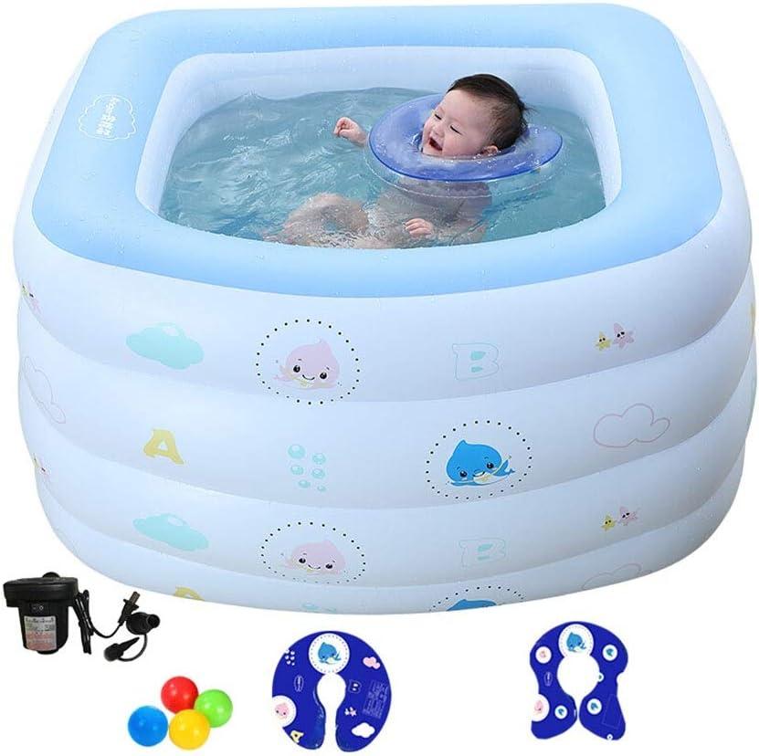 LYM & bañera Plegable Bebé Inflable Piscina para niños Bañera para ...