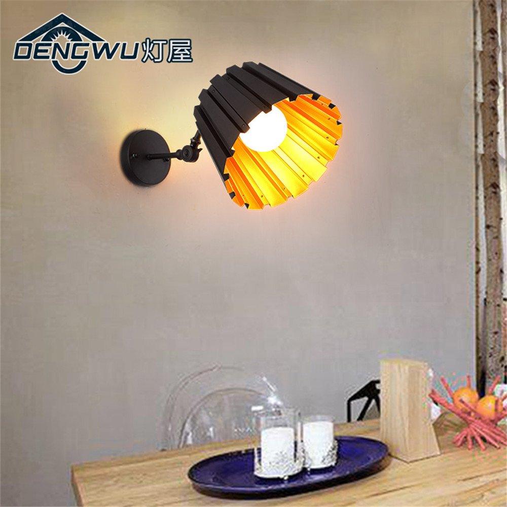 DengWu lampada da parete Il post-moderno minimalista luci da parete personalità creativa del letto matrimoniale soggiorno panchetto a parete e uno studio del vento industriale luci da parete