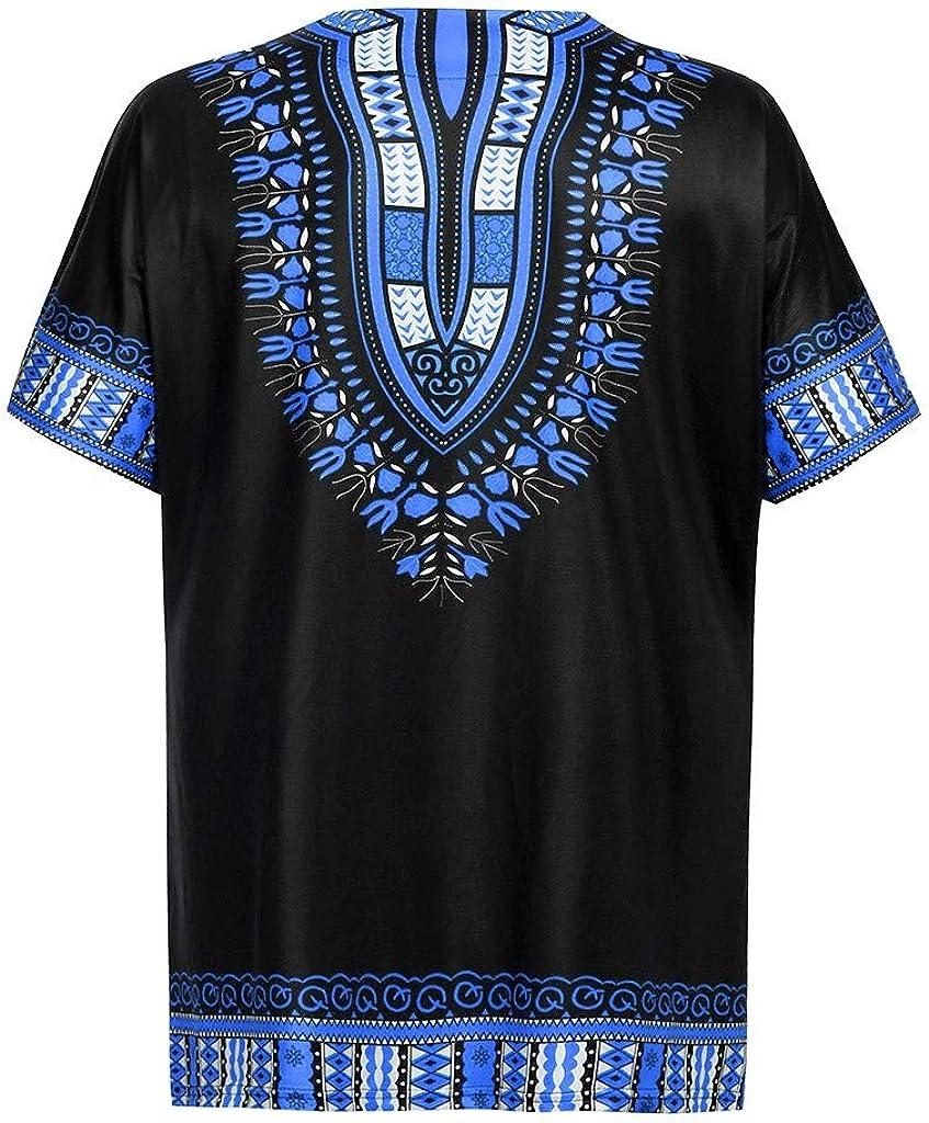 Gusspower Camiseta Estampada Tribal Africana Tradicional del Modelo para Los Hombres Camisas Top Vintage Manga Corta Blusa Hombre Slim Fit Casual Hombre Verano: Amazon.es: Ropa y accesorios