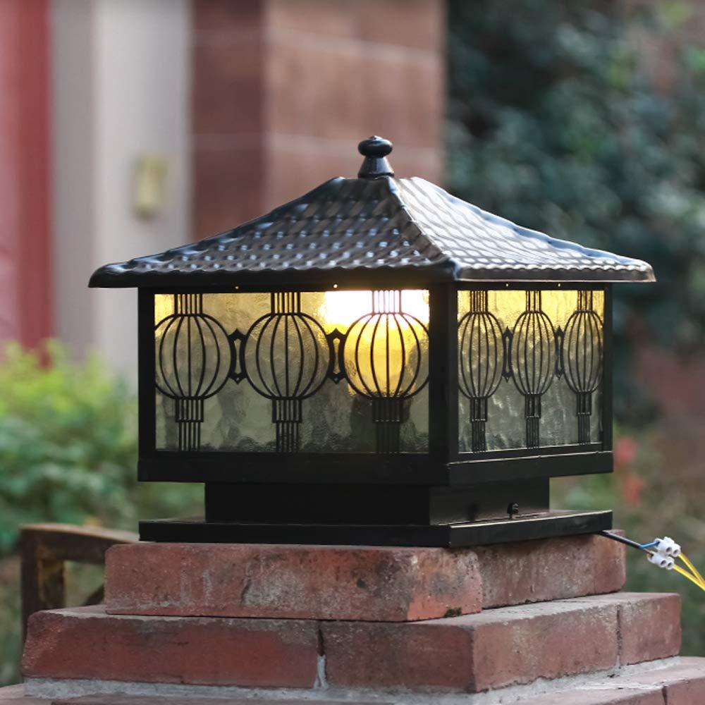 Rishx LED impermeabile Villa Post Light moderno cortile esterno Cortile di vetro Lampada a soffitto in alluminio antipioggia E27 Lampada pilastro per balcone Terrazza Gazebo piscina
