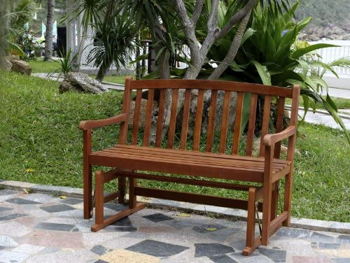 Miraculous Merry Garden 2 Person Glider Bench Wooden Bench For Outdoor Patio Garden Dining Stained Customarchery Wood Chair Design Ideas Customarcherynet