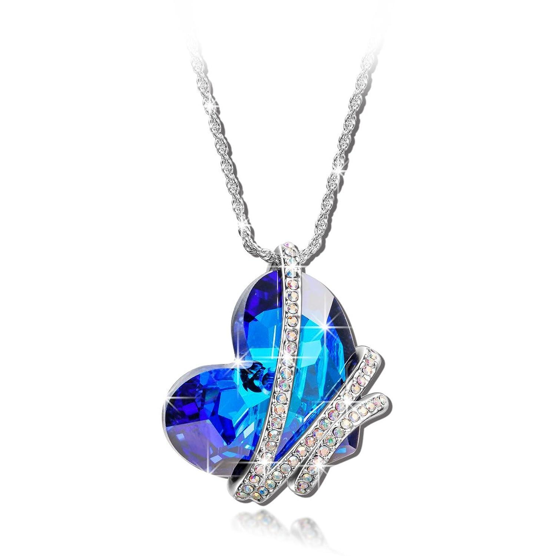 Swarovski Blue Diamond Necklace