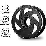 3D Printer Filaments - White 1.75 mm PLA Filament, Low Odor High Precision 3D Printing Filament, 2.2 lbs/1kg Spool 3D Printer Filament for Most 3D Printers & 3D Pens