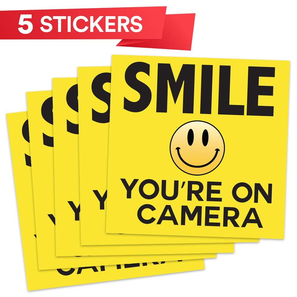 Amazon.com: Smile su sobre la seguridad cámara ○ signos ...