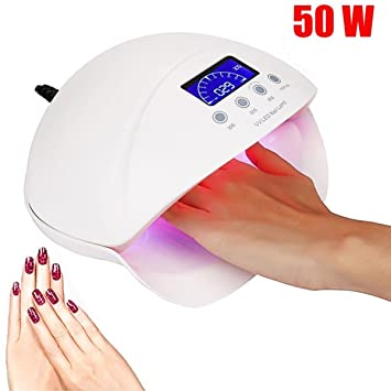 50w Uv Lamp Gel Led Nail Lamp High Power For Nails All Gel Polish Nail Dryer Sensor Sun Led Light Nail Art Manicure Tools Reasonable Price Nail Dryers