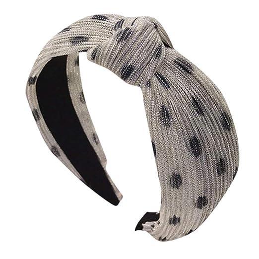 Leopard Fabric Cross Boho Turban Fashion 1pc Twist Knot Hair Accessories Sport Wrap Yoga Elastic Headband Ladies Hair Band Women Apparel Accessories