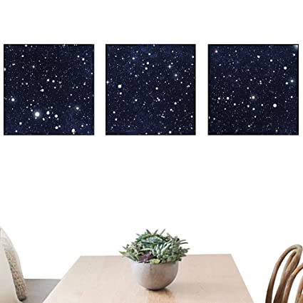 OfArt Night Home Decorations Star Filled Dark Sky Vivid Celestial Theme Cosmos Galactic Cluster Constellation Living
