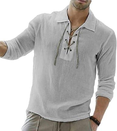 ShuangRun - Camiseta de Manga Corta para Hombre, diseño de ...