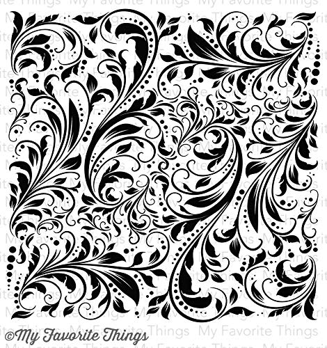 My Favorite Things Background Cling Rubber Stamp, 6