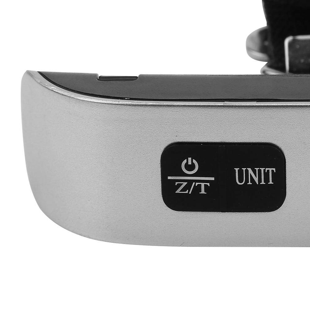 TOPINCN Escala electrónica portátil Viaje Digital Portátil Pantalla LCD electrónica Equipaje Maleta Bolsa Plata(con luz de Fondo): Amazon.es: Hogar