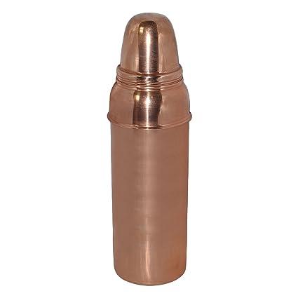 TERA INDIA Lr Designed Copper Water Bottle ( Brown )