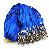 Warmter 50 Pack Lanyard Badge Lanyards For ID Name Tags and Badge Holders (Blue)