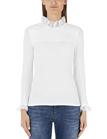 Marc Cain Collections Damen Bluse HC 55.23 J28, Weiß (White 100), 34