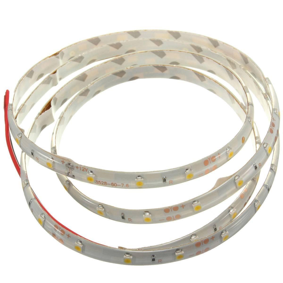 LED Strip Lumineuse - TOOGOO(R)1M 60-3528 SMD etanche LED Strip Lumineuse DC12V(Blanc Chaud) GOMASINSUD74915