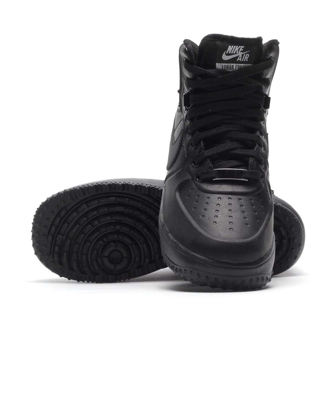 Nike Lunar Force 1 Sneakerboot (GS) Black/Black-Metallic Silver (4.5Y) by Nike (Image #4)
