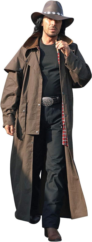 Cowboymantel Reitmantel Westernmantel Duster Country Cowboy »Stockman« Braun NEU