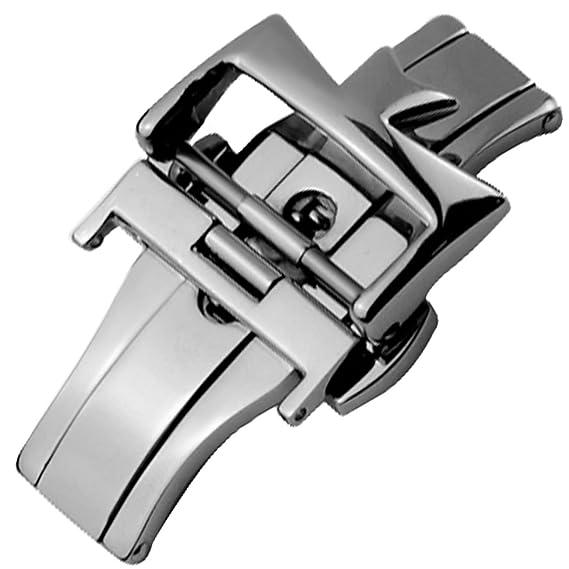 18 mm acero inoxidable cierre de plata despliegue hebilla para Vacheron Constantin