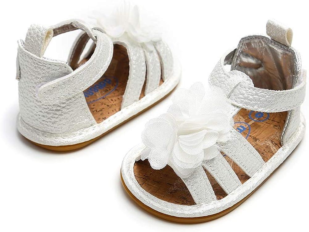 ESTAMICO Baby Girls Summer Flower Shoes Infant Sandals First Walkers