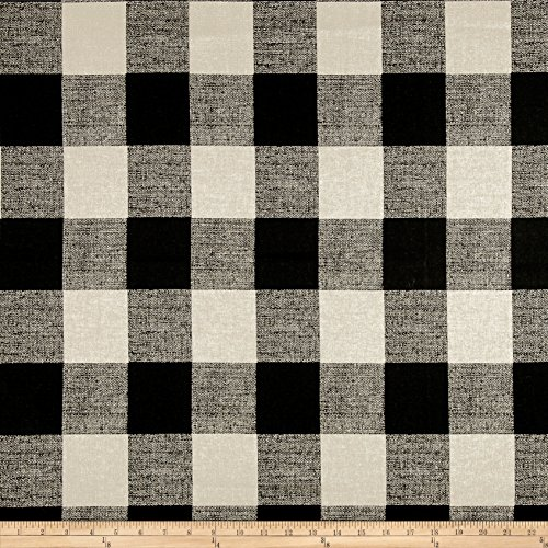 Premier Prints Anderson Check Fabric, Black/Linen