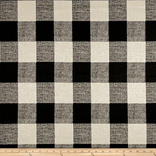 - Premier Prints Anderson Check Fabric, Black/Linen