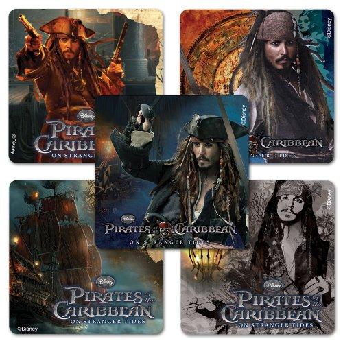 Pirates of the Caribbean Sticker Assortment - 75 Per Pack