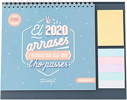 Mr. Wonderful El 2020 Arrases, Calendario de Sobretaula: Amazon.es ...