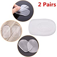 FANCYLEO Silicone Heel Cup Pads, Plantar Fasciitis Shoe Inserts for Bone Spurs Pain Relief Protectors of Your Sore Or Bruised Feet Best Insole Gels Treatment, 2 Pairs