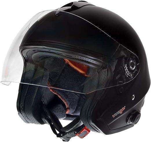 Rf 730 Bluetooth Jethelm Motorradhelm Jet Motorrad Roller Bobber Helm Rueger Größe Xs 53 54 Farbe Matt Schwarz Auto