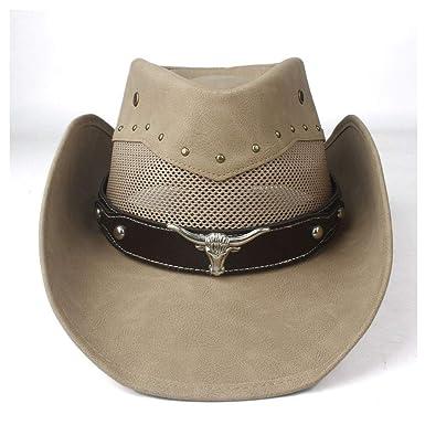 GHC gorras y sombreros Mujeres Hombres Sombrero de cuero Gorras de ...
