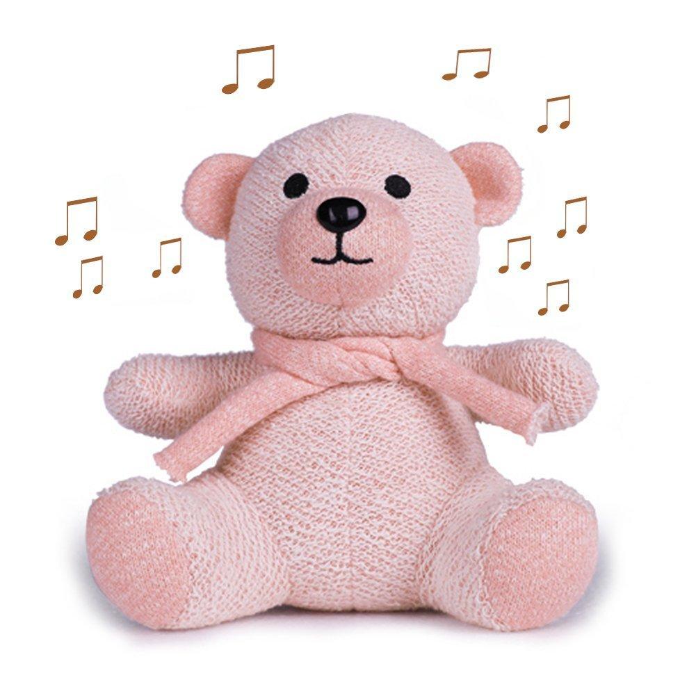 Mini Bluetooth Speaker, Sysmarts Cute Bear Toys Portable Wireless Bluetooth Mini Speaker Gift for Women,Girls, Kids, Children, Baby (Pink)