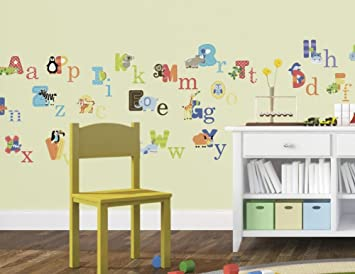 Charming CherryCreek Decals Animal Alphabet Nursery Peel U0026 Stick Wall Art Sticker  Decals For Boys And Girls Part 31